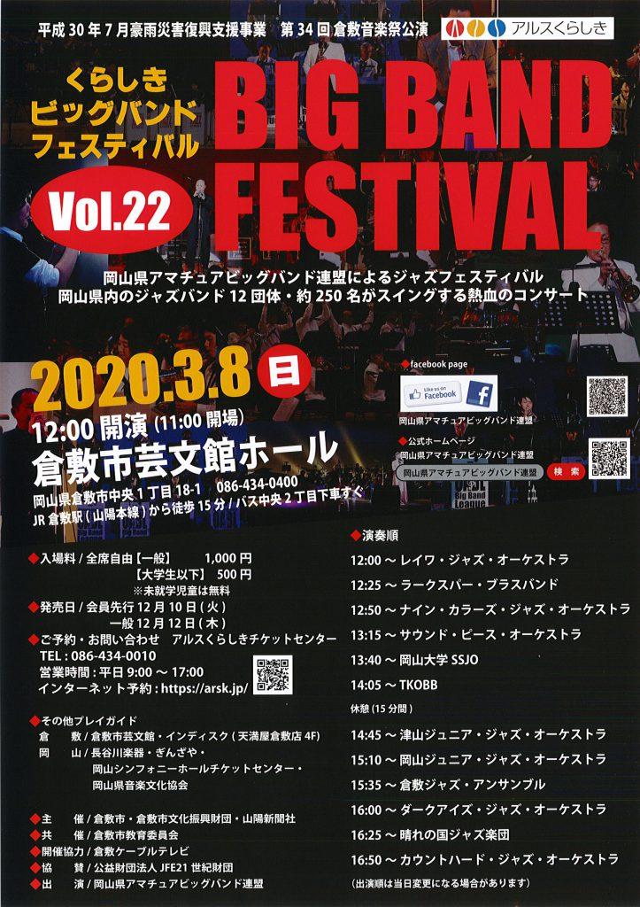 [第34回倉敷音楽祭]第22回くらしきビッグバンドフェスティバル