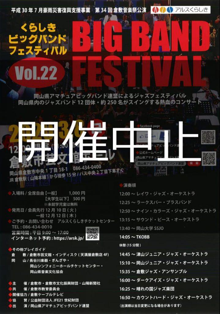 【公演中止】[第34回倉敷音楽祭]第22回くらしきビッグバンドフェスティバル